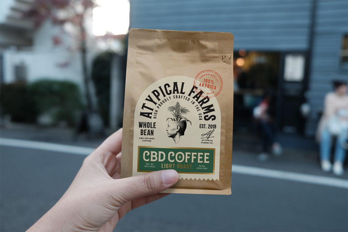 Packaging de café au CBD
