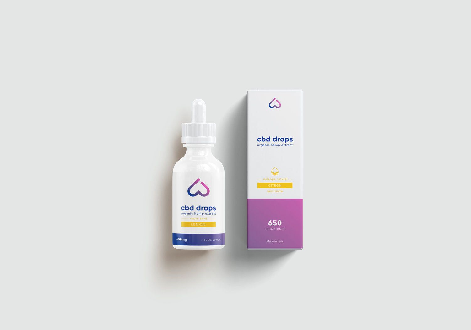 Packaging design Huile CBD