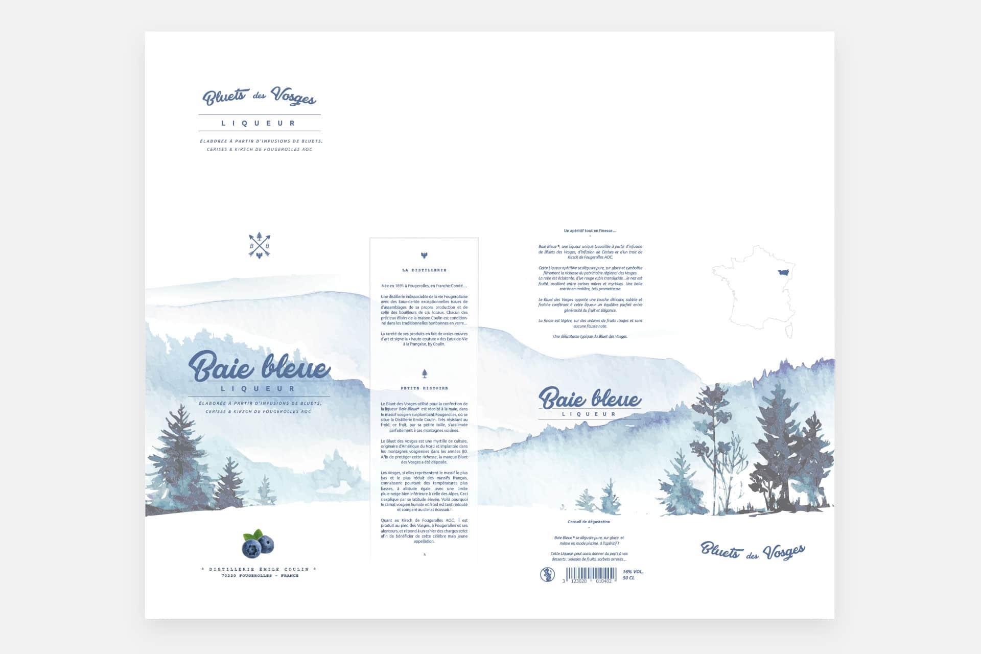 Blue Bay Liqueur box template