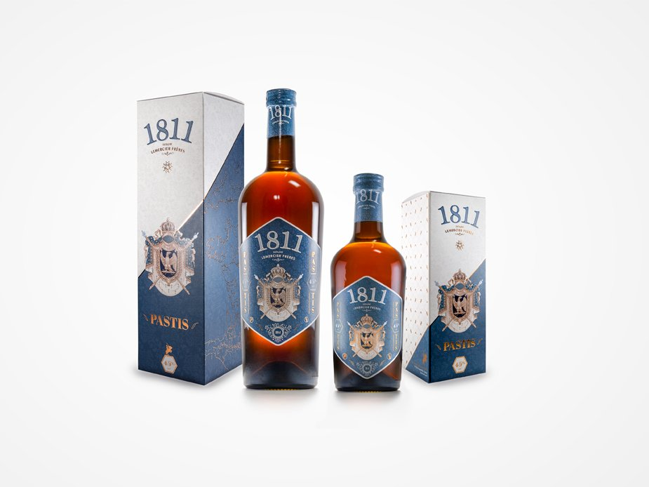 Packaging design - Pastis 1811