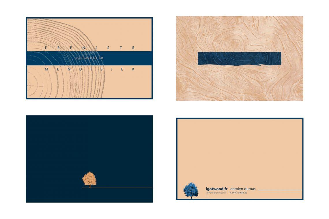 Identité visuelle - Ebauches cartes de visite