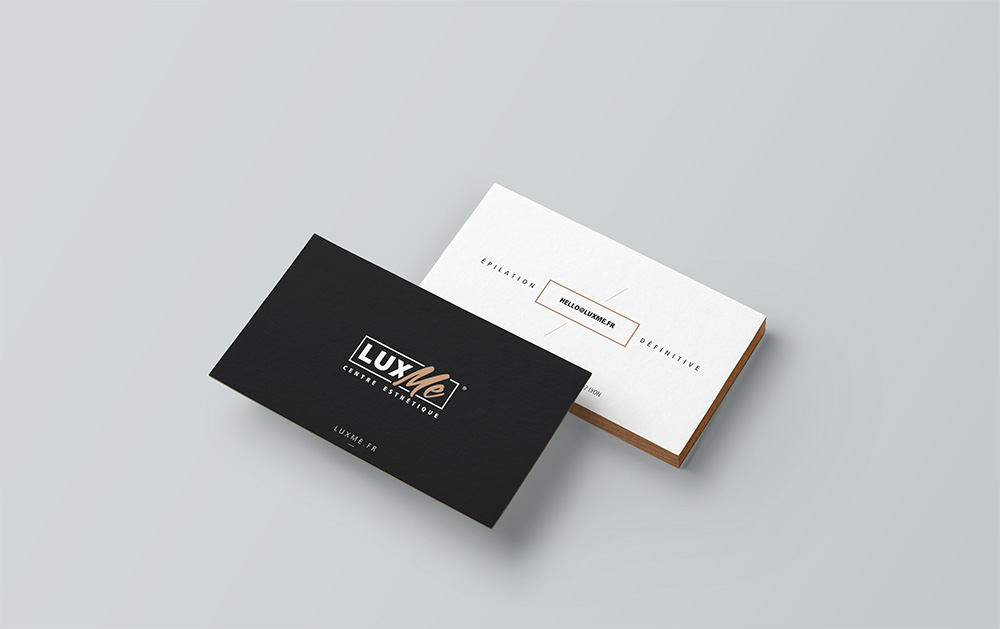 Communication print, business card Lux Me