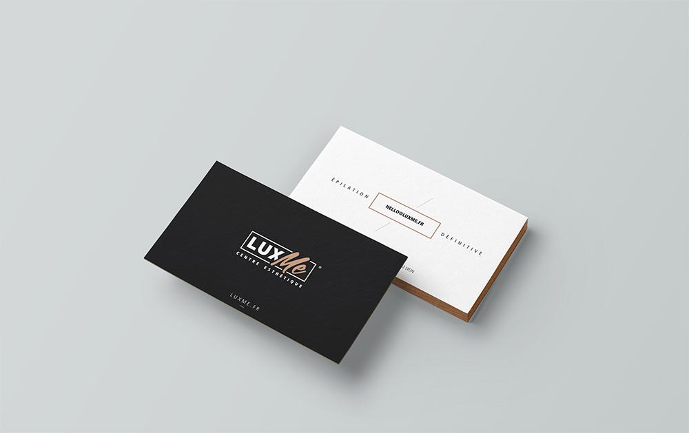 Communication print, carte de visite Lux Me