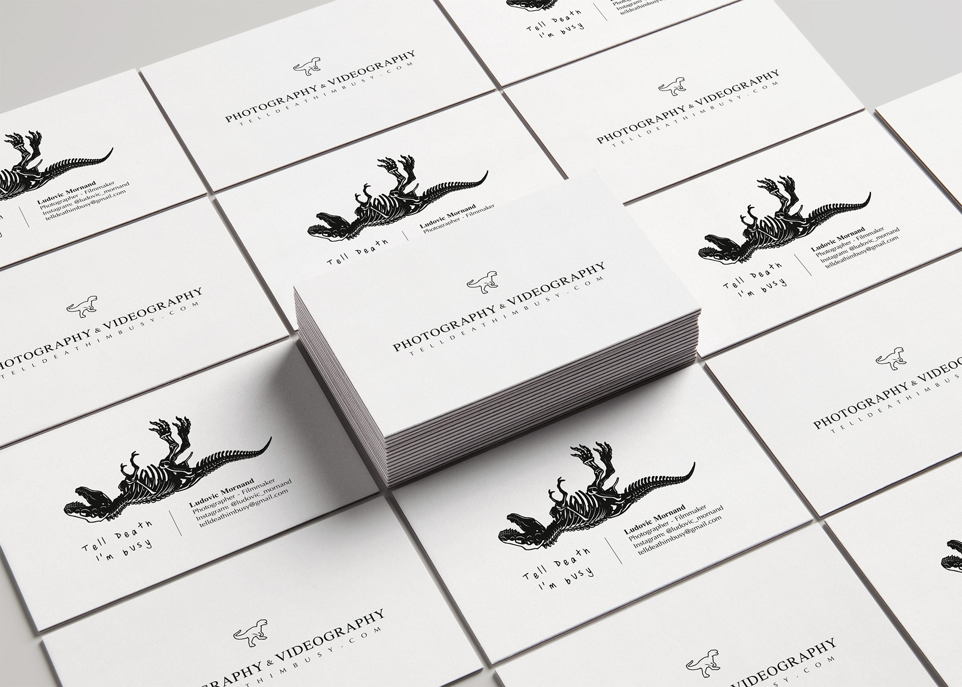 Realization of business cards Ludovic Mornand Photography