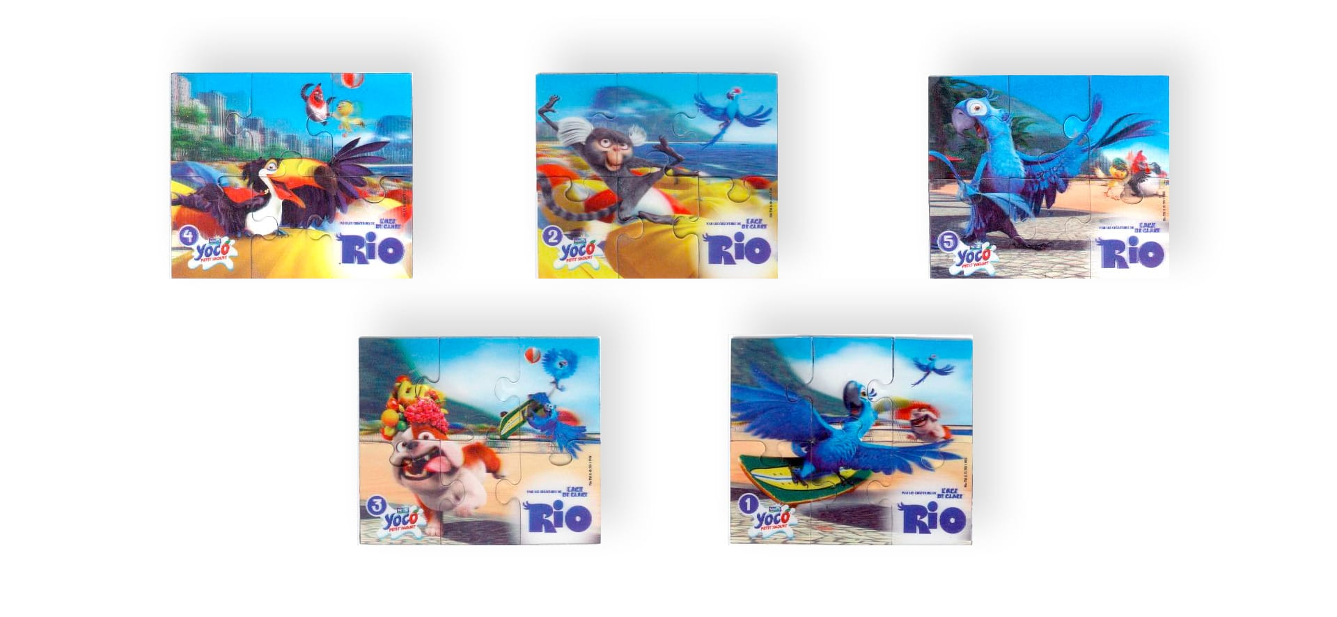 Yoco 3D puzzle magnets collection