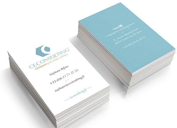 Branding design - cartes de visite CE Consulting