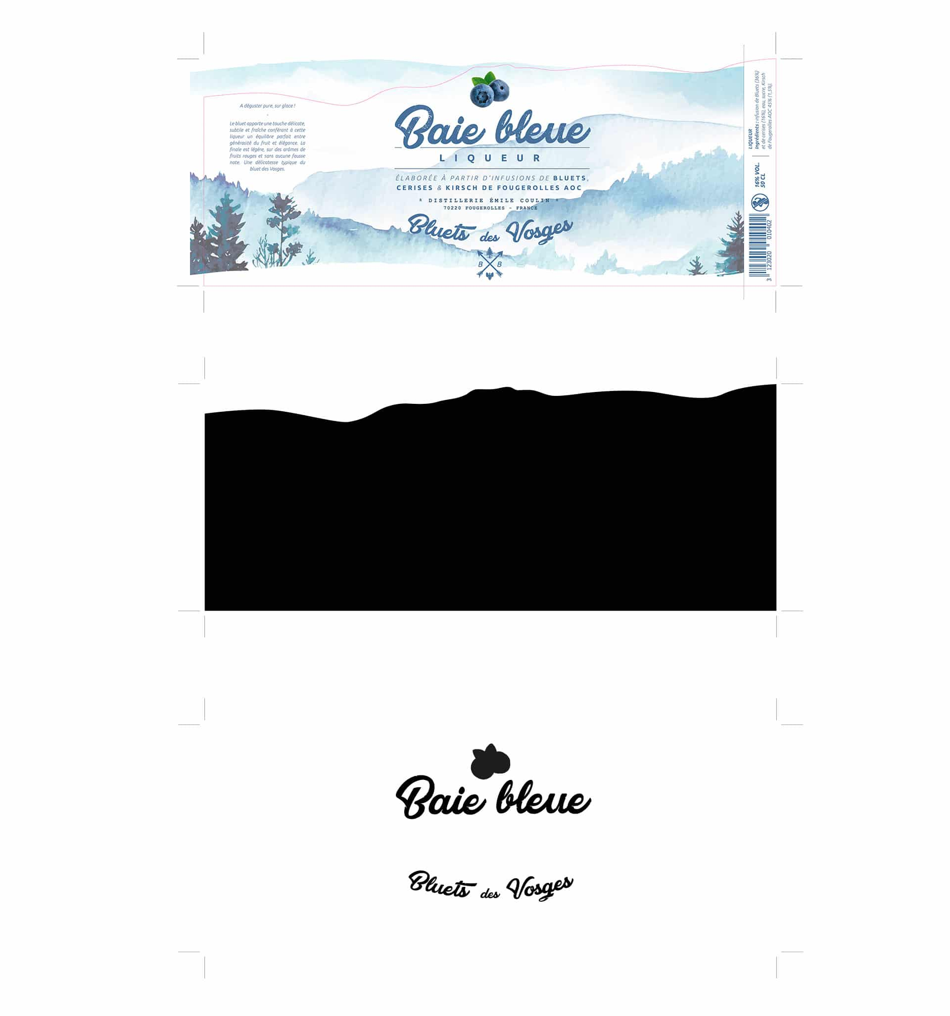 Redesign of the l'Blue Bay Label