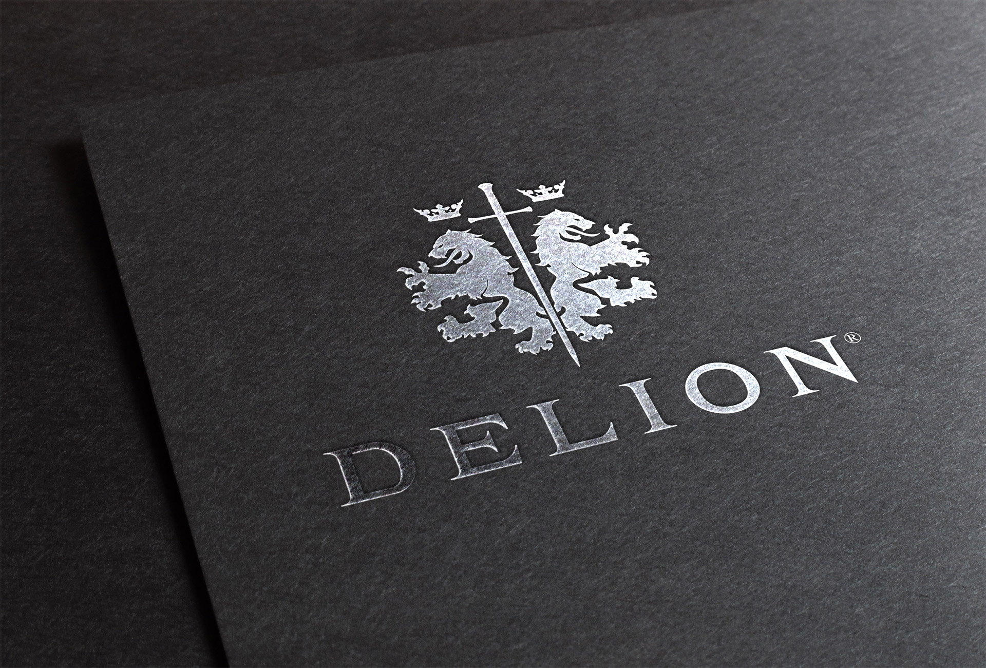 Delion logo on case - hot stamping