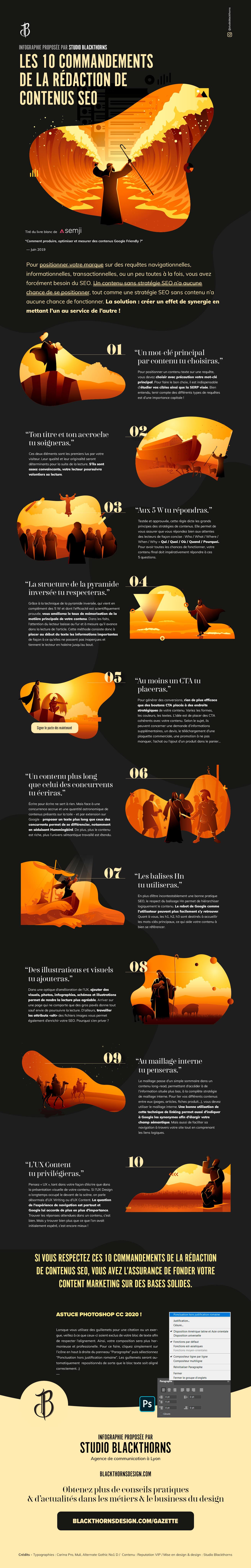 Rédaction de contenus SEO - Les 10 commandements