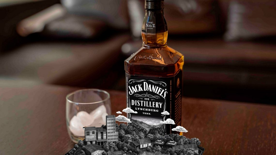 Expérience de Réalité Augmentée sur une bouteille de Whisky Jack Daniel's