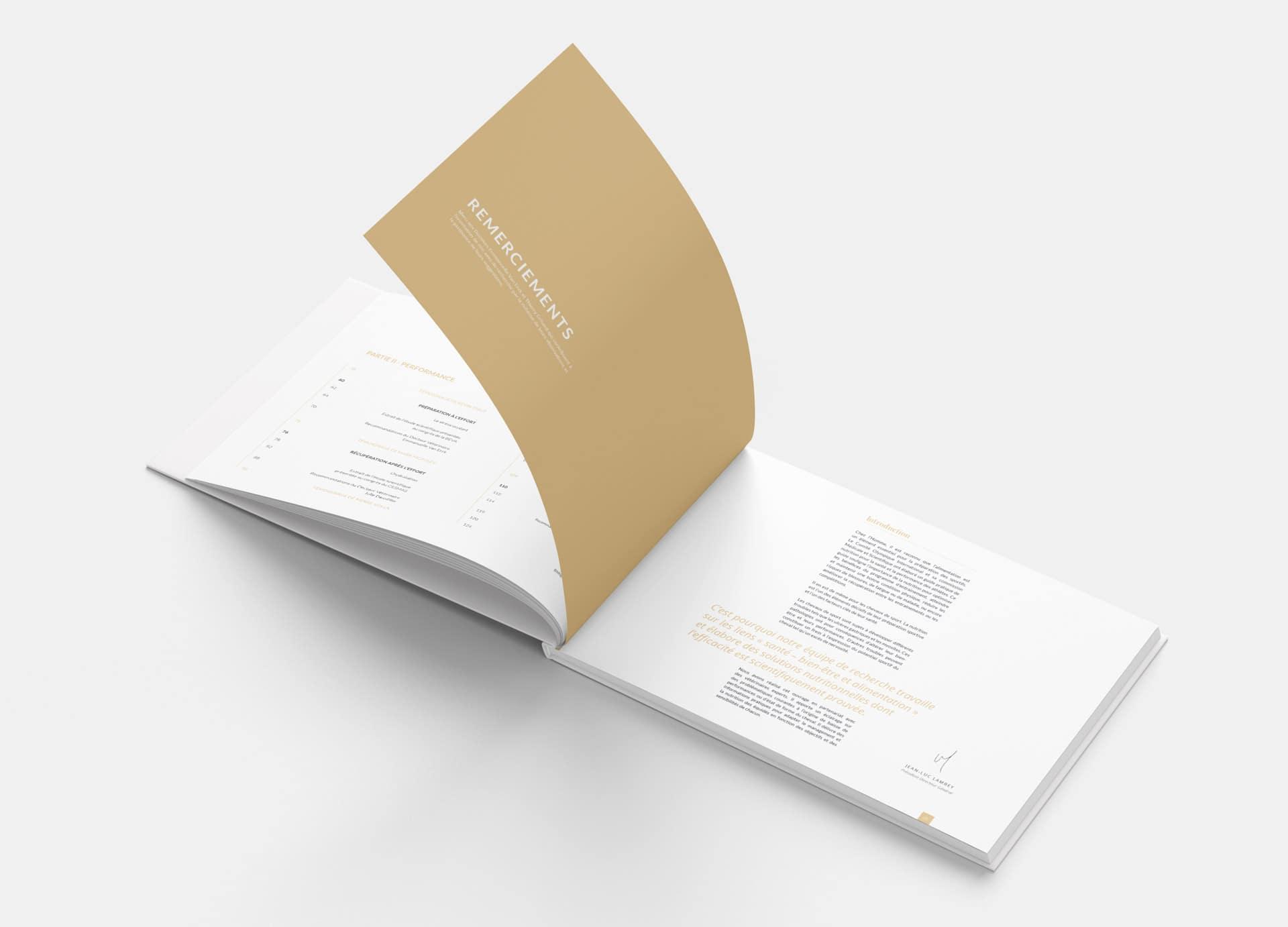 Design graphique livre équitation