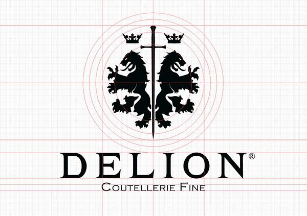 Construction du logotype Delion