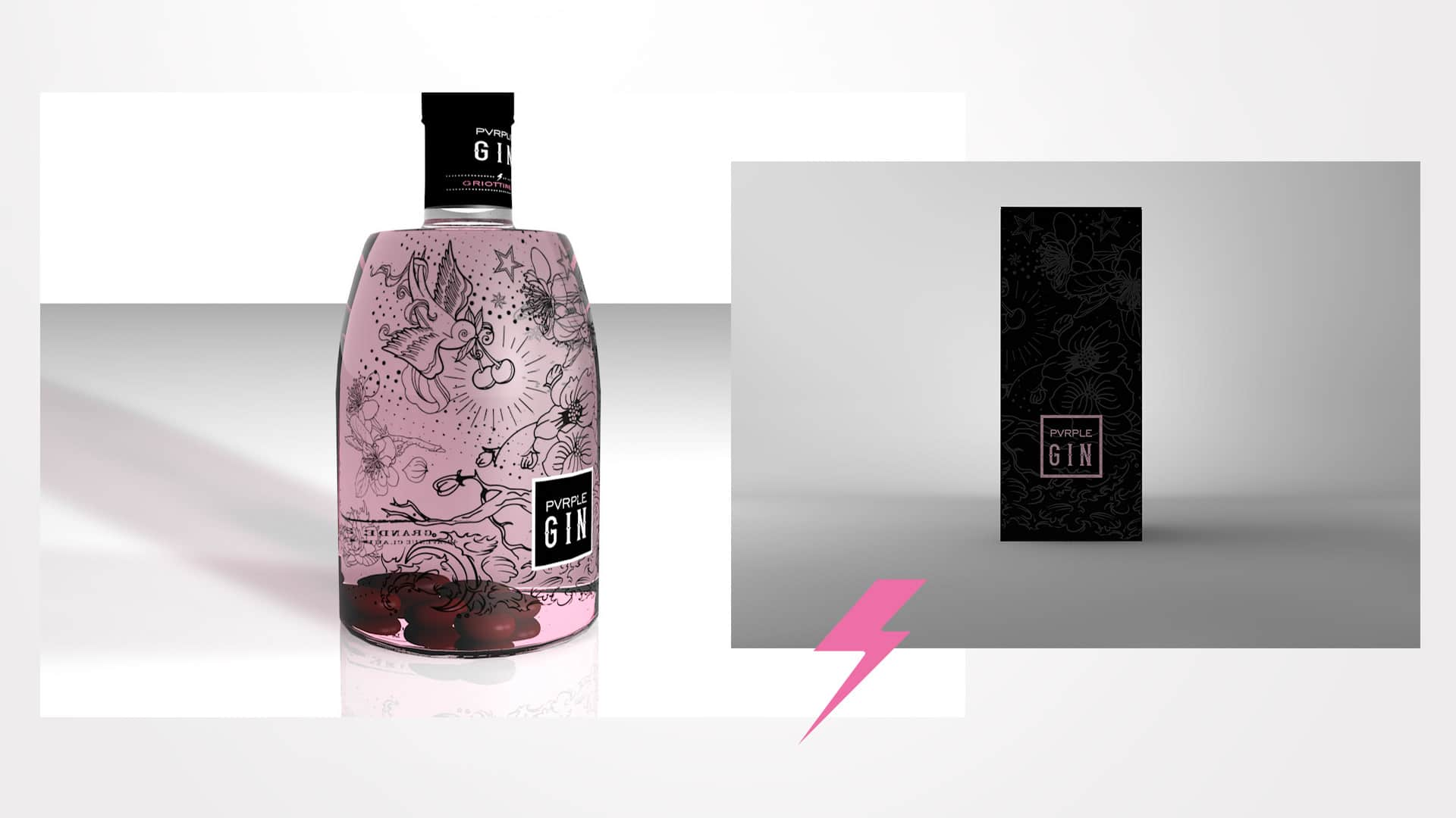Modelisation packaging Pvrple Gin