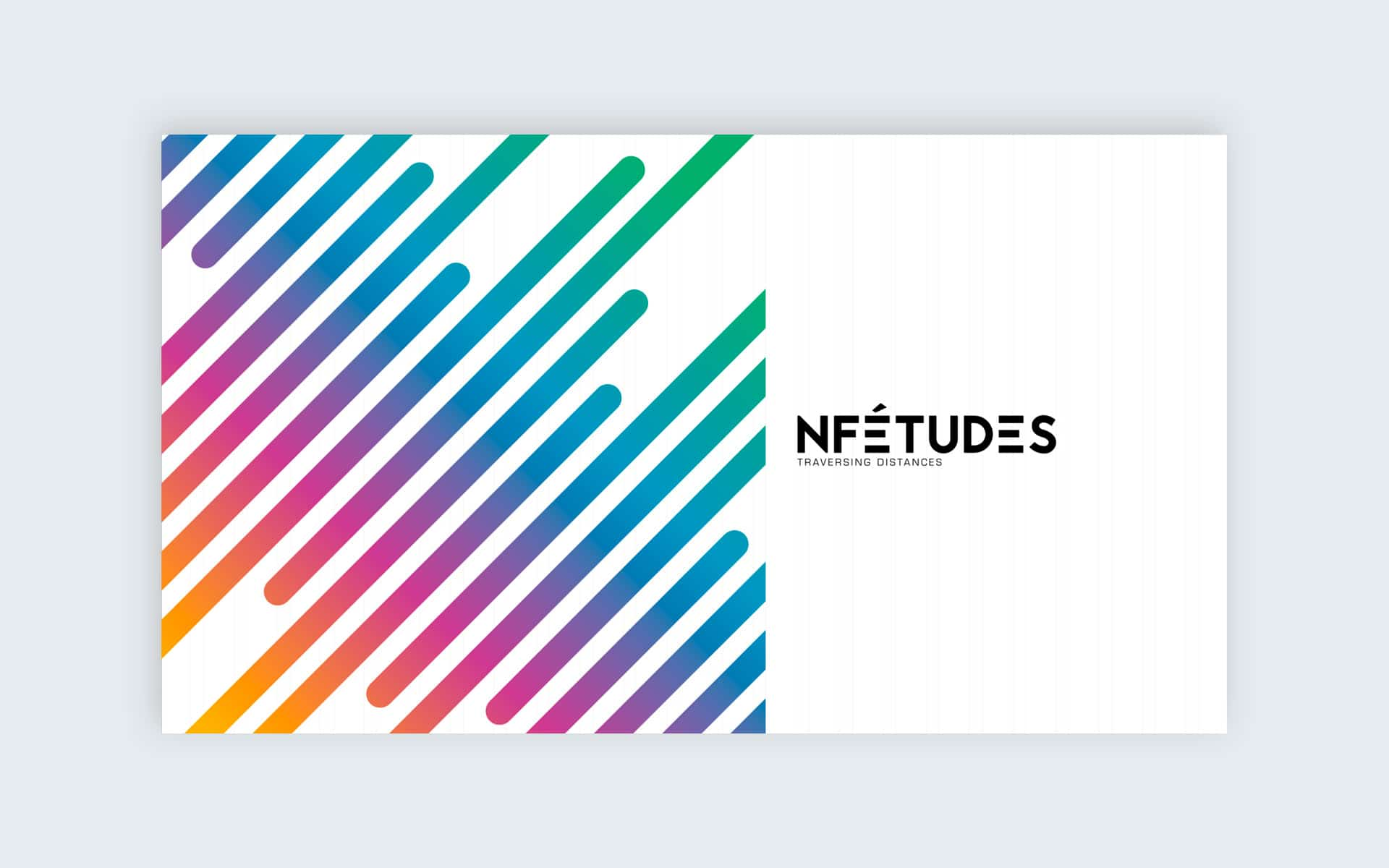 Slide Powerpoint - Identité visuelle cabinet de recherche