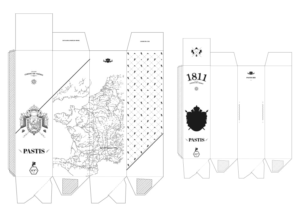 Pastis 1811 Aperitif Packaging Design Template