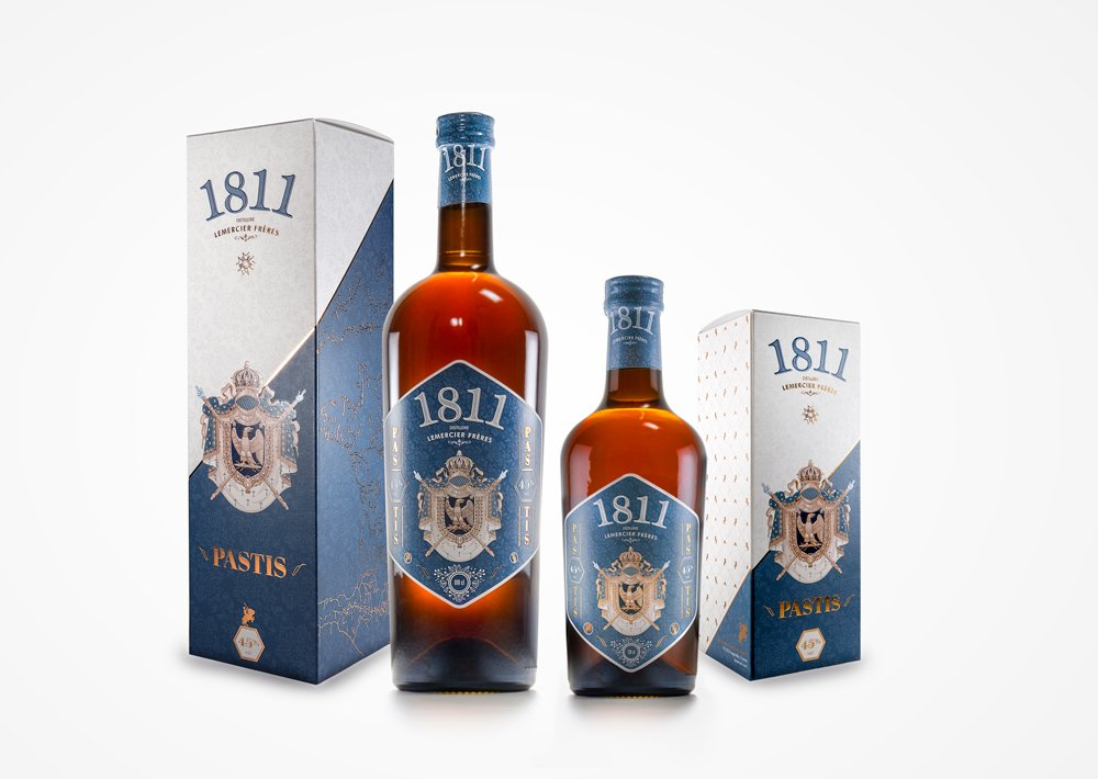Packaging design and rebranding - Pastis 1811 range