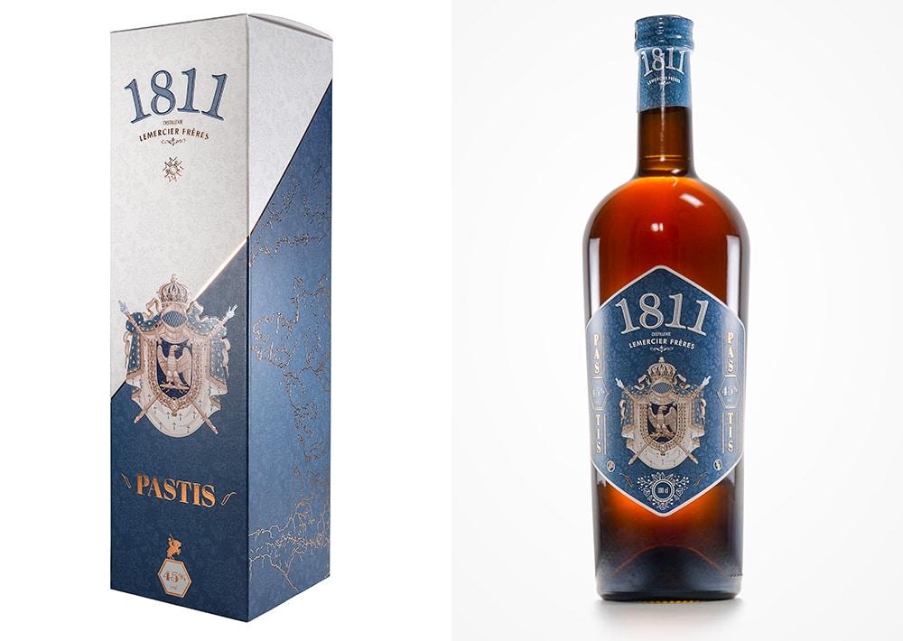 Packaging design aperitif Pastis 1811