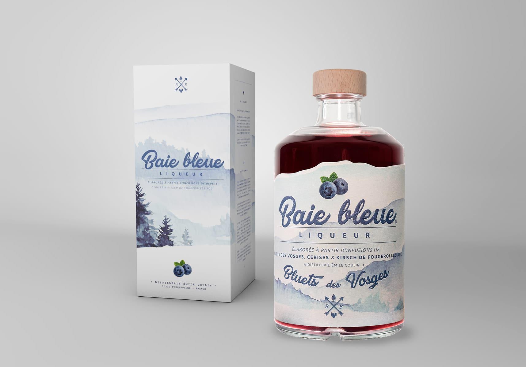 Blue Bay Liqueur range, blueberry liqueur