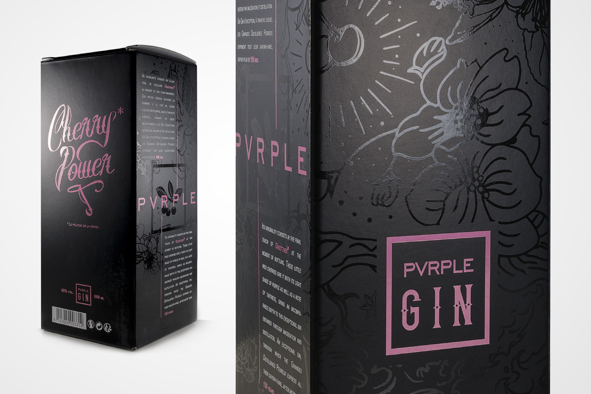 Packaging design Pvrple Gin