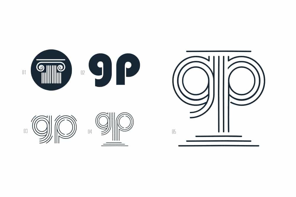 Construction du logo de Pauline Girerd
