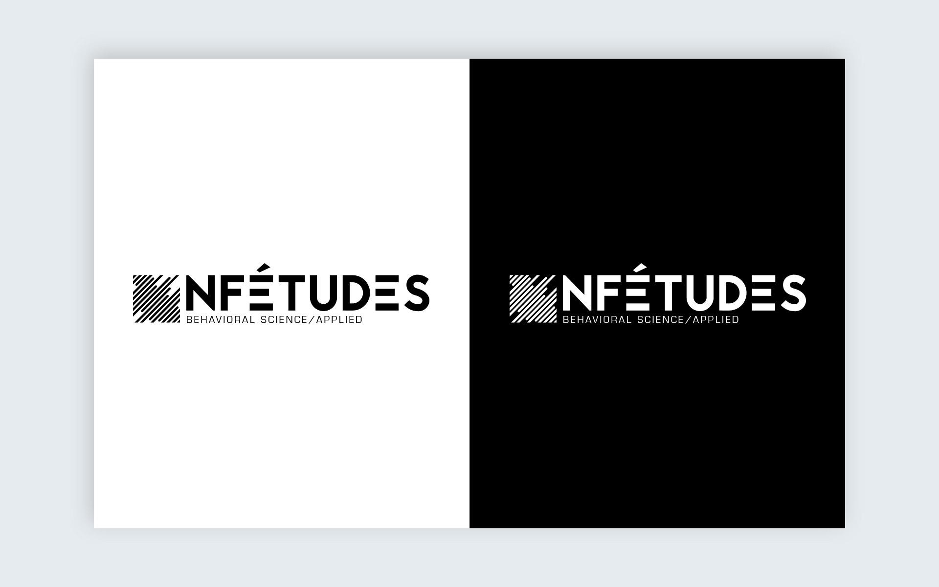 logotype NF Etudes noir et blanc
