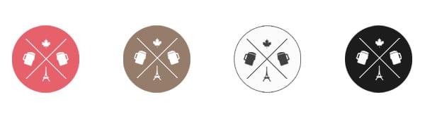 Conception et déclinaison de sigles - UI design